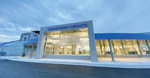 Page 34 of multi-million-dollar modernization project A first and last impression: The Fredericton International Airport