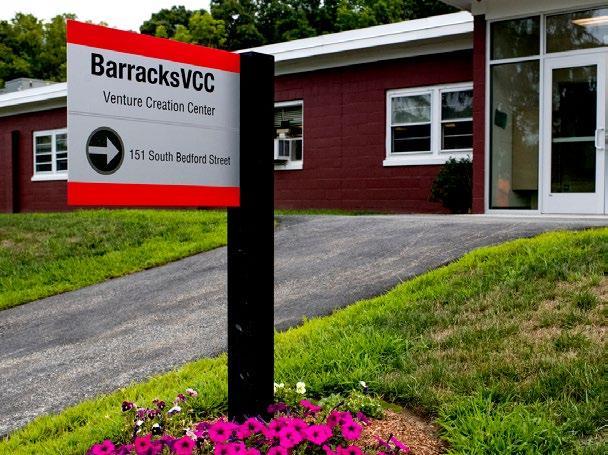 Barracks building sign