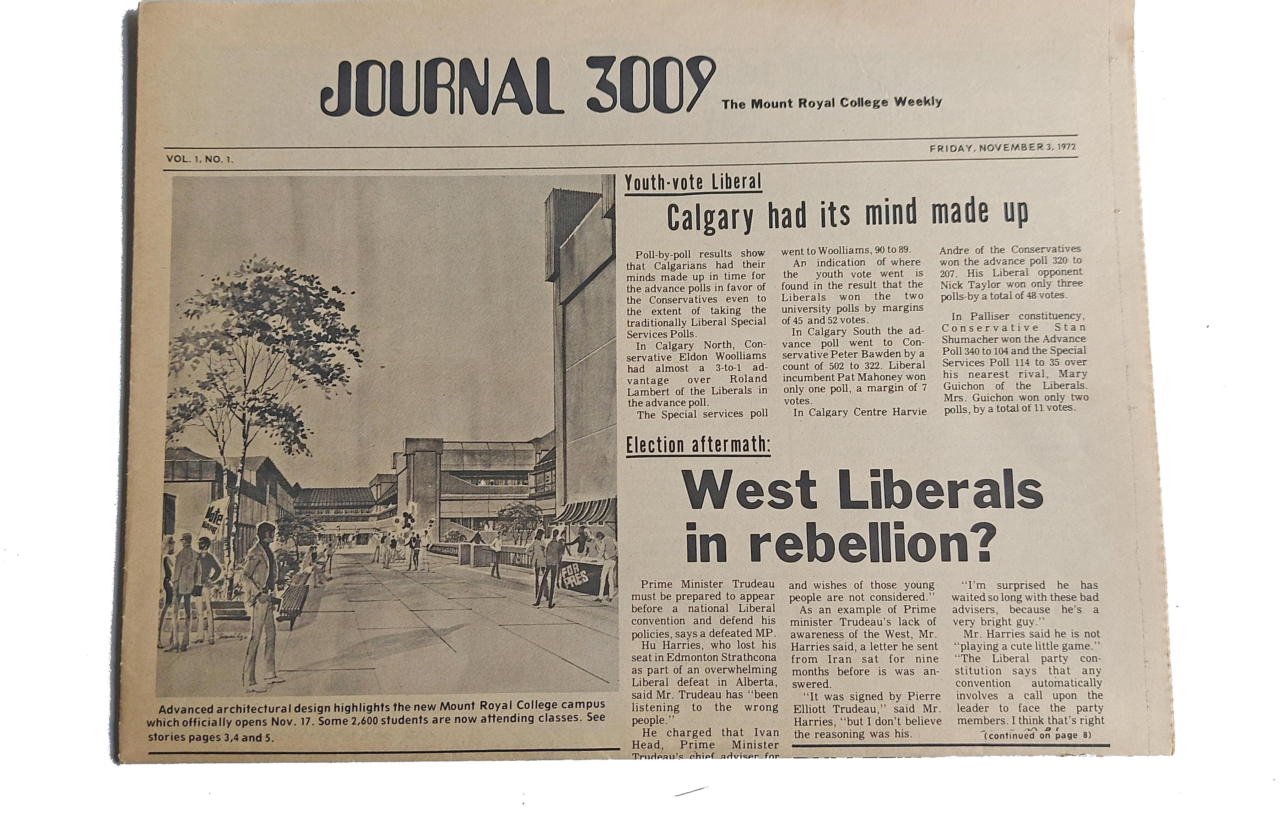Page 32 of The Calgary Journal looks back on