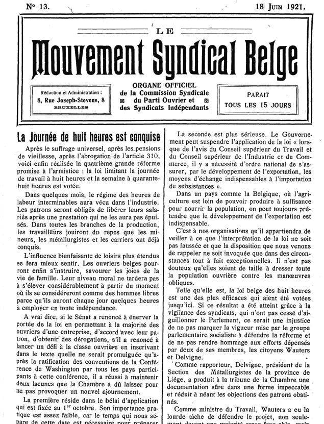 Page 6 of 1921, la Journée des 8heures estconquise