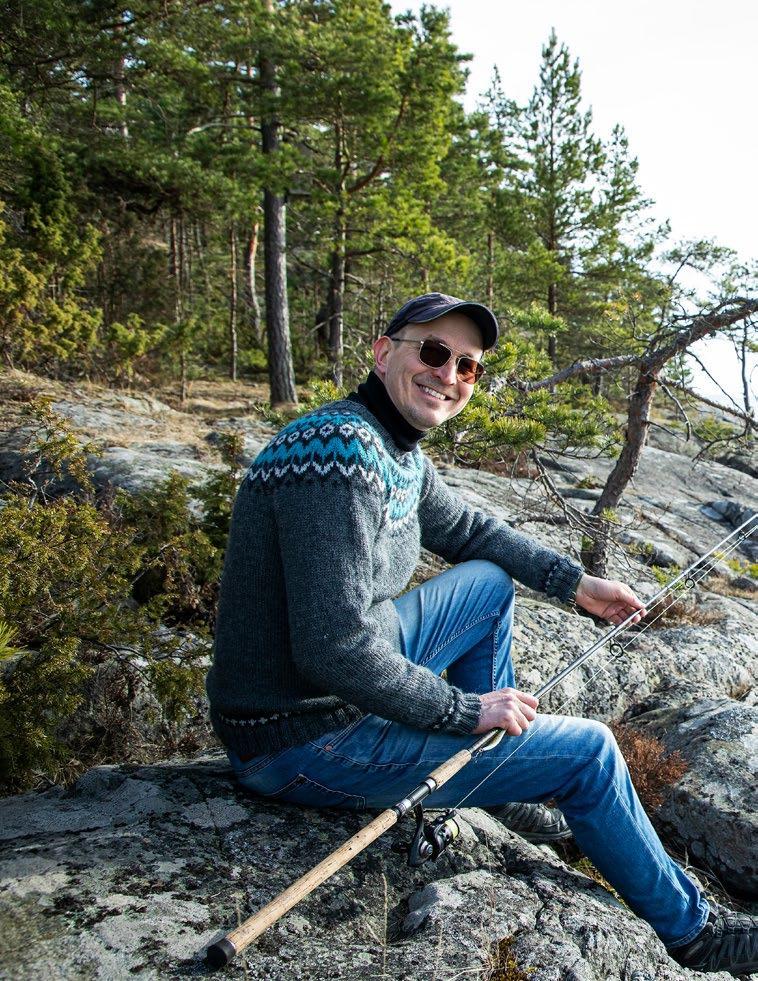 Page 34 of Tuomas Torniainen menee metsään aistimaan, koska on hyvä kalakeli