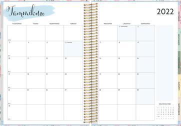 Page 10 of Life Organizer/Tuntimuistio