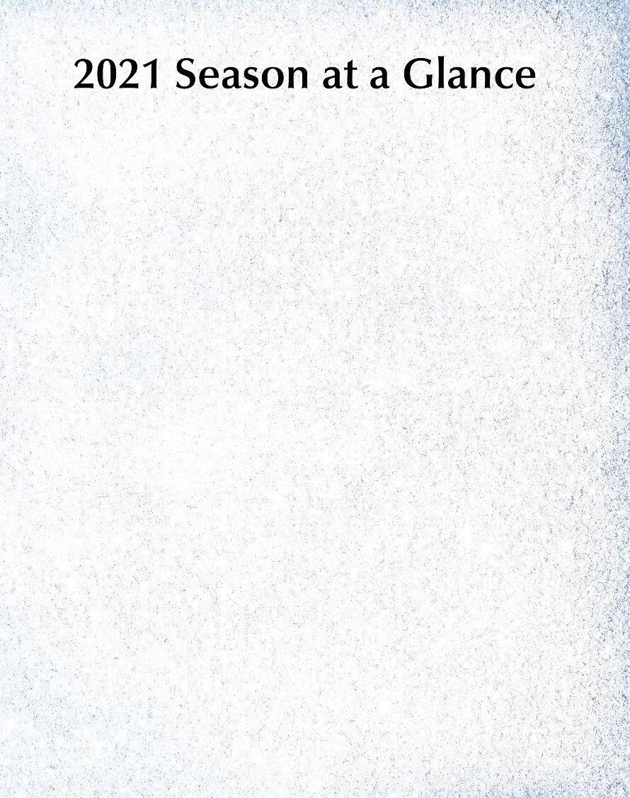 Page 14 of 2021 Season at a Glance