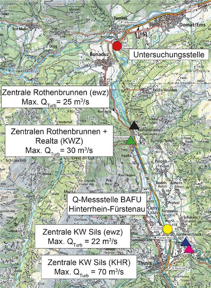 Page 28 of Stranden von Wasserwirbellosen bei Schwallrückgang – Fallstudie am Hinterrhein