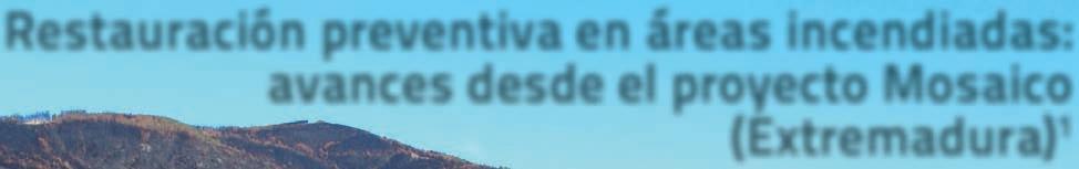 Page 38 of x Restauración preventiva en áreas incendiadas: avances desde el proyecto Mosaico Extremadura) [pág