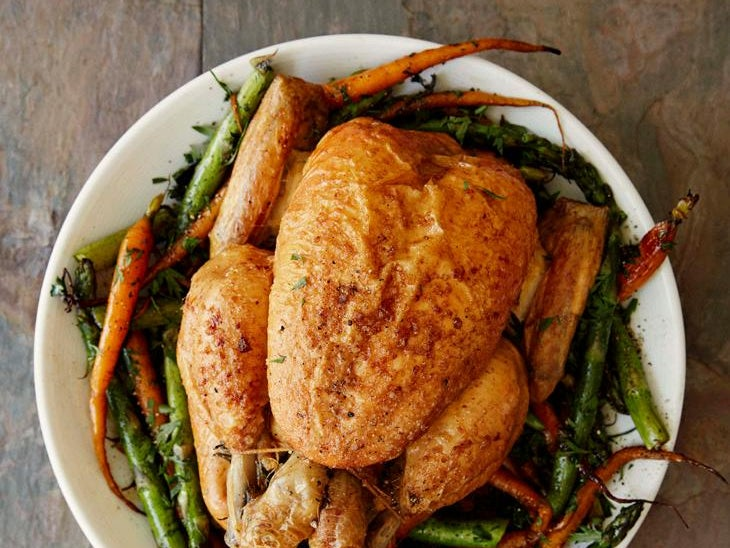 Page 10 of Roast chicken with roasted carrots & asparagus