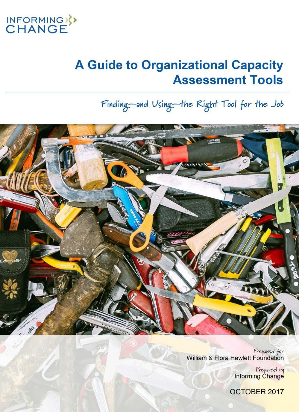 Page 26 of Introducing 'A Guide to Organizational Capacity Assessment Tools'