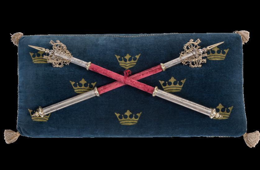 Page 46 of MUI(D)E Muuseumi kogudes hoitakse tükikest Rootsi kuningavõimust