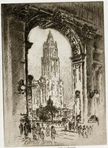 """Page 30 of The Works: """"Skyscraper Gothic"""" reaches new heights at The Fralin."""